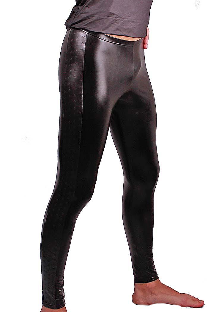FunBoy Herren Glanz-Meggings (Leggings) 112 in schwarz