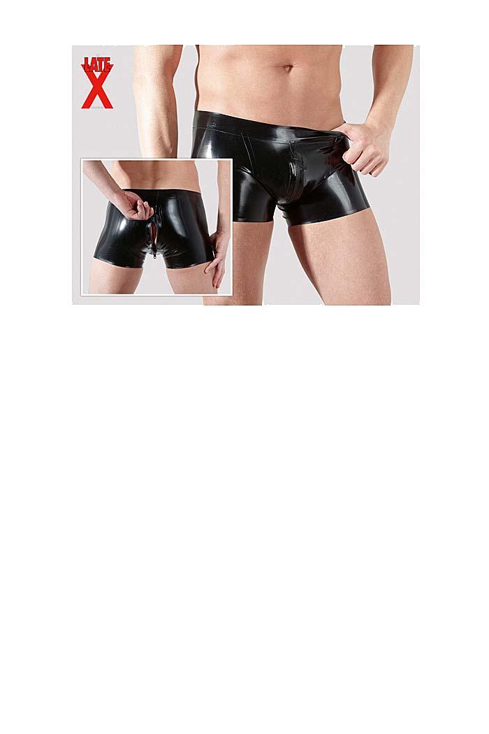 herren latex pants mit 2 wege rei verschluss gr e m l. Black Bedroom Furniture Sets. Home Design Ideas