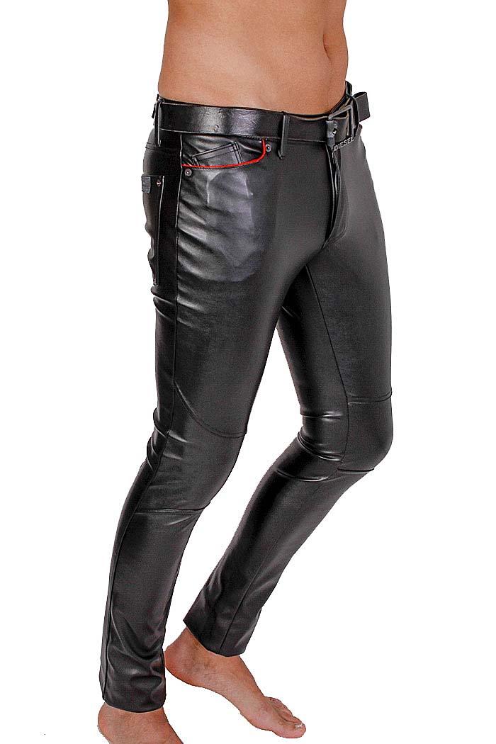tof paris herren slim fit jeans gladiator lederoptik. Black Bedroom Furniture Sets. Home Design Ideas