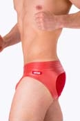 Barcode Berlin Brief Tito Mesh-Back Rot