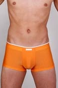Bruno Banani Hipshort Check in Orange Stripes