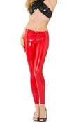 Eros Veneziani Glanz Leggings im Wetlook-Lack Style Rot