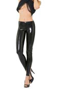 Eros Veneziani Glanz Leggings im Wetlook-Lack Style Schwarz