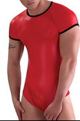 Eros Veneziani rotes Wetlook T-Shirt 7056