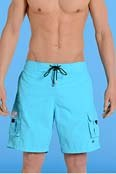 HOM Beach Boxer Marine Long in T�rkis