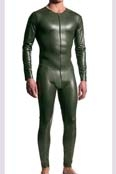 MANstore Allover Suit M510 Leder-Optik Oliv