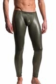 MANstore Leggings M510 Leder-Optik Oliv