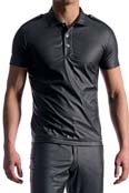 MANstore Polo Shirt M104, Leder Optik