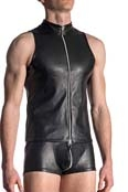MANstore Zipped Vest M564 Leder Optik