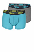 PUMA Short Boxer blue-grey 2er-Pack
