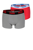PUMA Short Boxer red-grey 2er-Pack