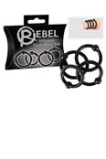 Rebel Silicon Cockring Set 25, 28, 30 und 32 mm