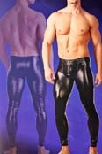 Svenjoyment Wetlook Leggings mit Front Zip