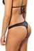 Joe Snyder Wetlook-Bikini Tanga Crete Schwarz
