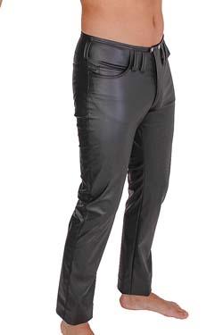 Kauf echt erstklassige Qualität geringster Preis Herren Jeans Hosen in Lederoptik kaufen | easyfunshop