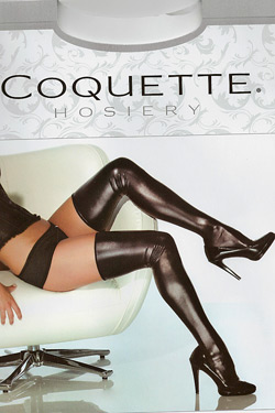 Coquette Darque Wetlook Strümpfe Stockings 1728