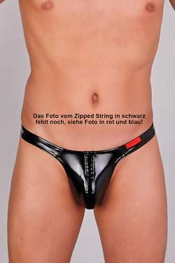 FunBoy Lack Zipped Ministring Schwarz