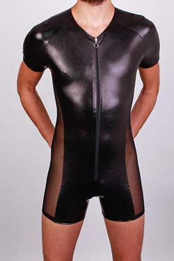 FunBoy Tüll Pantbody in Wetlook Lack-Optik