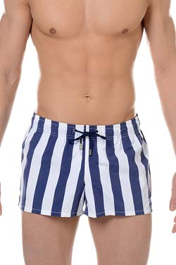 HOM Bade Short Island Navy-Weiß