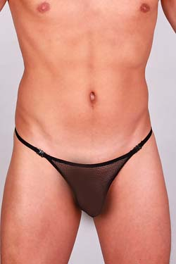 L´Homme Invisible Striptease String Fishnet Schwarz