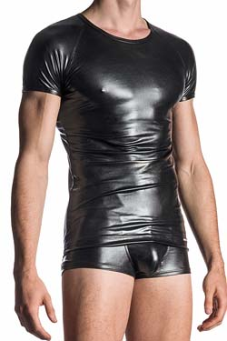 MANSTORE Brando Shirt M107 in Lack, Latex Optik