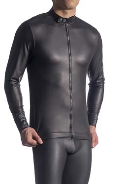 MANSTORE Zipped Longsleeve M510 Leder-Optik
