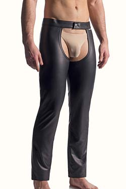 MANstore M510 Black Chaps Leder-Optik