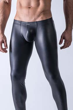 MANstore Tight Leggings M510 Leder-Optik
