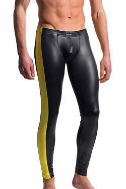 MANstore Tight Leggings M604 Schwarz-Gelb