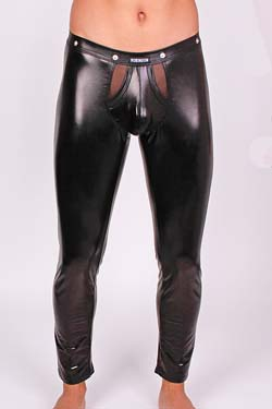 Robinson PushUp Leggings Wetlook-Schwarz