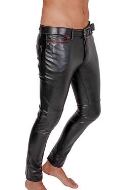 Leder leggings mann