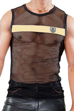 TOF Paris Tank Top Spartacus Schwarz-Gold