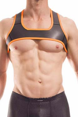 Wojoer Neopren Harness Schwarz-Orange